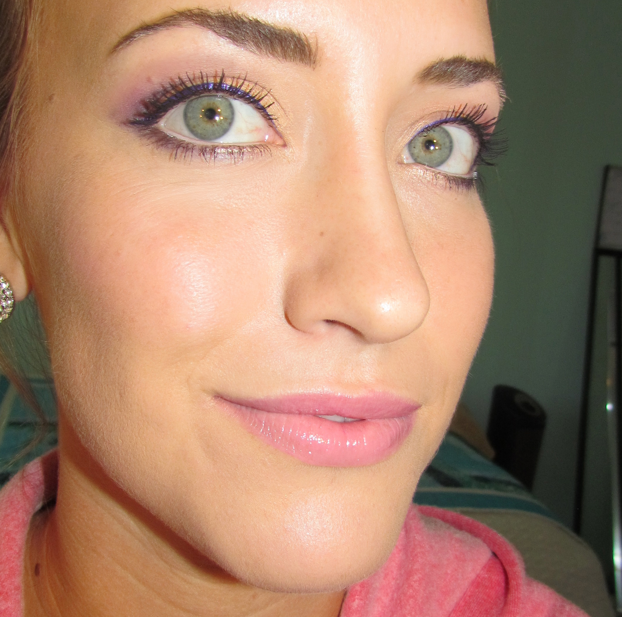 Purple + Gold Eye Makeup | Real Gal